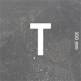 MeltMark letters - height 300 mm white - Letter: T  height: 300 mm