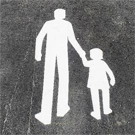 MeltMark Man and child 40 x 70 cm