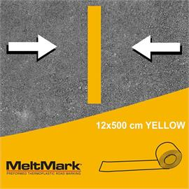 MeltMark roll yellow 500 x 12 cm