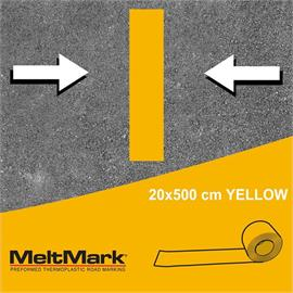 MeltMark roll yellow 500 x 20 cm