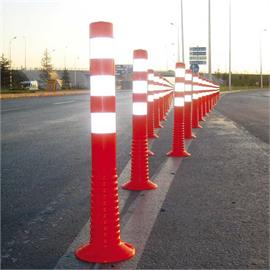 Orange flexible shut-off posts
