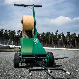Road marking film laying machine