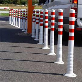 Self erecting bollards