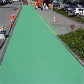 Surface and bicycle lane marking