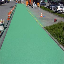 Surface and bicycle lane markings