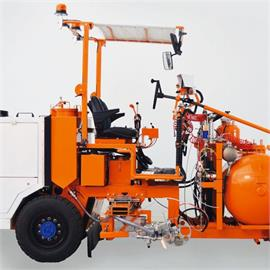 Thermoplastics ride-on road marking machines