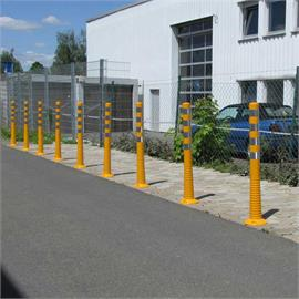 Yellow flexible shut-off posts