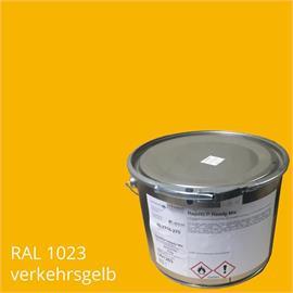 BASCO®dur HM traffic amarillo en un contenedor de 4 kg RAL 1023