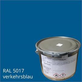 BASCO®dur HM traffic blue en un contenedor de 4 kg