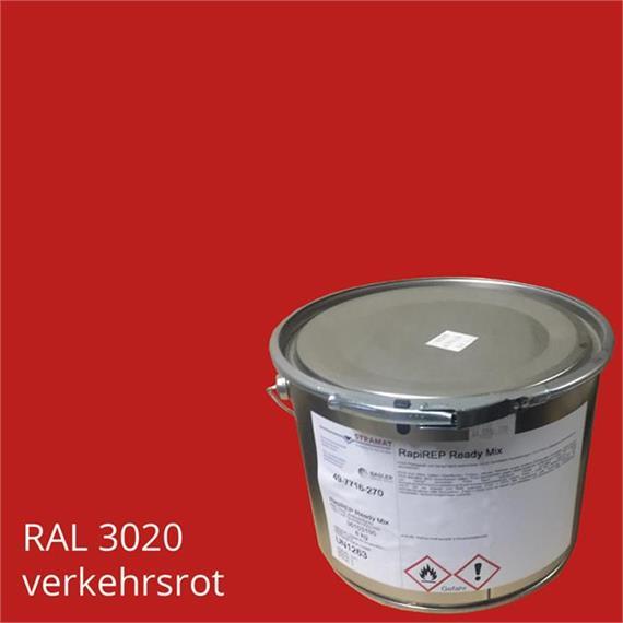 BASCO®dur HM traffic rojo en un contenedor de 4 kg