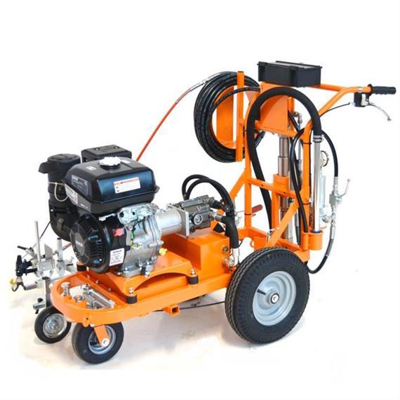 CMC AR 30 Pro-P 25 H - Máquina de señalización vial sin aire con bomba de pistón 8,9 L/min motor Honda