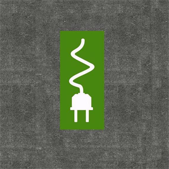 Estación de servicio/estación de carga E-car verde/blanco 100 x 220 cm