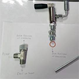 Kit de conversión de la válvula principal de 3/8 de pulgada