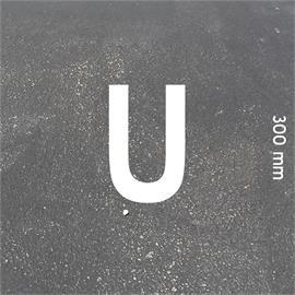 Letras MeltMark - altura 300 mm blanco - Letra: U  altura: 300 mm