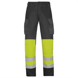 Pantalones de cintura de alta visibilidad clase 1, amarillos, talla 42.