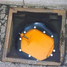 Placa de cierre de la boca de inspección para las entradas de agua de lluvia con un diámetro interior de aprox. 350 mm