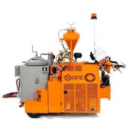 TH60 - Máquina de plástico de pulverización térmica con accionamiento hidráulico