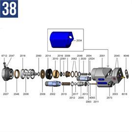 Tuerca de seguridad de acero inoxidable en el eje 2008