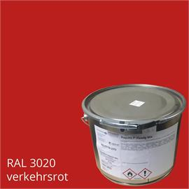 BASCO®dur HM liikennepunainen 4 kg:n pakkauksessa.