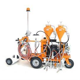 CMC AR100 - Airless tiemerkintäkone hydraulisella voimansiirrolla ja mäntäpumpulla varustettuna.