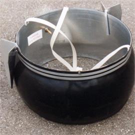 Ilmavaippainen kuilumuotti noin 62,5 cm:n kuiluja varten.