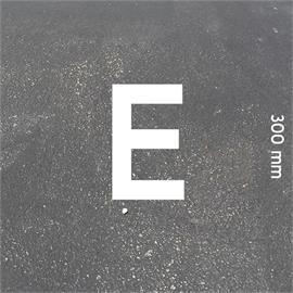 MeltMark-kirjaimet - korkeus 300 mm valkoinen - Kirjain: E  Korkeus: 300 mm