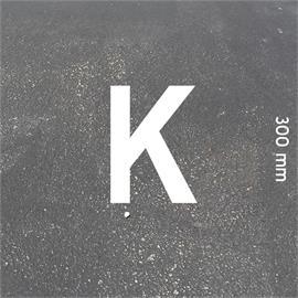 MeltMark-kirjaimet - korkeus 300 mm valkoinen - Kirjain: K  Korkeus: 300 mm