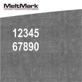 MeltMark numerot - korkeus 1.000 mm valkoinen