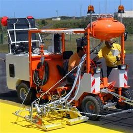 L 250 - L 400 machine de marquage par pulvérisation d'air autoportée