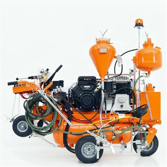 L 90 IETP Machine de marquage par pulvérisation d'air à entraînement hydraulique