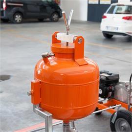Perleuse en verre avec réservoir sous pression de 15,5 litres et pistolet à billes