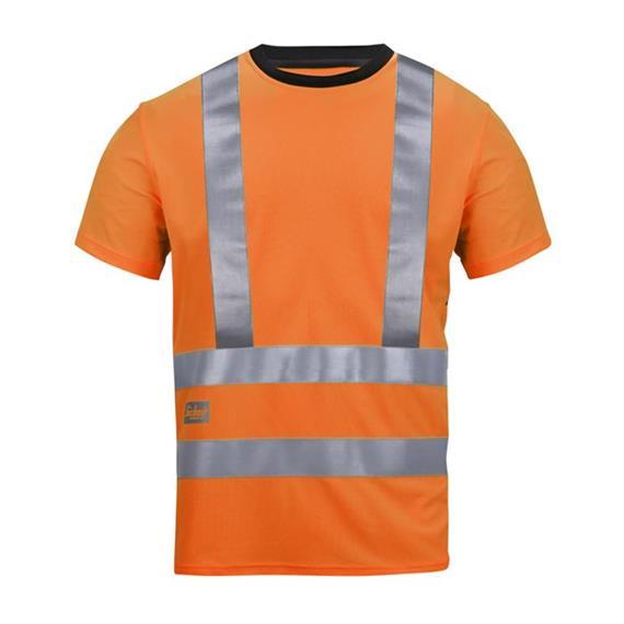 T-shirt A.V.S. haute visibilité, Kl 2/3, taille M orange
