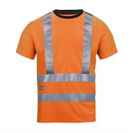 T-shirt A.V.S. haute visibilité, Kl 2/3, taille S orange