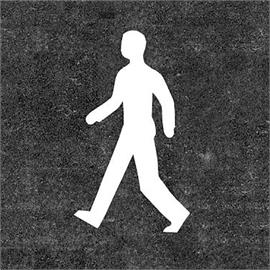 Gyalogos padlójelzés fehér 160 cm