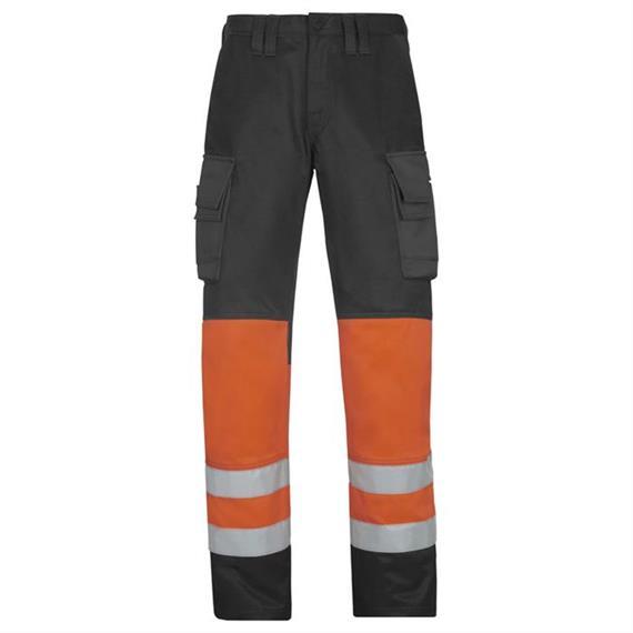 1. osztályú, narancssárga, 158-as méretű, magas látásvédettségű nadrágok