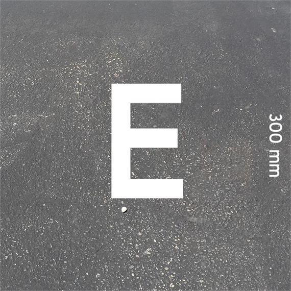 Lettere MeltMark - altezza 300 mm bianco - Lettera: E  altezza: 300 mm