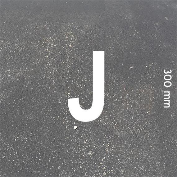 Lettere MeltMark - altezza 300 mm bianco - Lettera: J  altezza: 300 mm