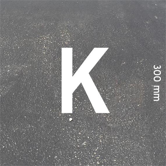 Lettere MeltMark - altezza 300 mm bianco - Lettera: K  altezza: 300 mm