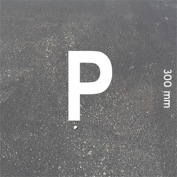 Lettere MeltMark - altezza 300 mm bianco - Lettera: P  altezza: 300 mm
