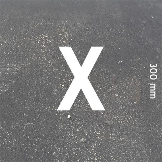 Lettere MeltMark - altezza 300 mm bianco - Lettera: X  altezza: 300 mm