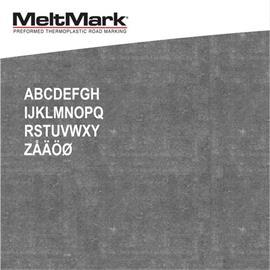MeltMark raidės - aukštis 200 mm, baltos spalvos