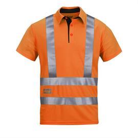Augstas redzamības A.V.S.Polo krekliņš, 2/3 klase, S izmērs, oranžs