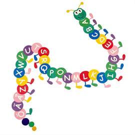 MeltMark rotaļu laukumu marķējums - Larv alfabet A līdz Ö