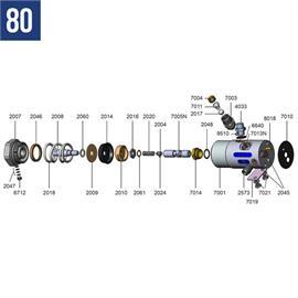 Complete reparatieset voor Mod. 80 en 90 met art. nr. 2055