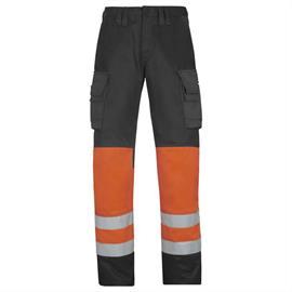 High Vis taillebandbroek klasse 1, oranje, maat 112