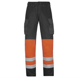 High Vis taillebandbroek klasse 1, oranje, maat 154