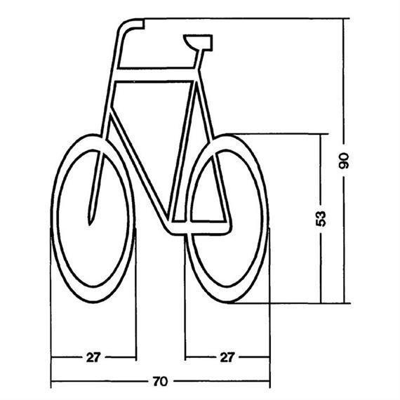 MeltMark fietser AT 700 x 900 cm