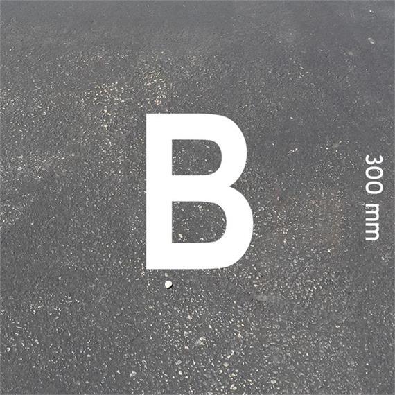 MeltMark letters - hoogte 300 mm wit - Brief: B  hoogte: 300 mm