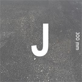 MeltMark letters - hoogte 300 mm wit - Brief: J  hoogte: 300 mm