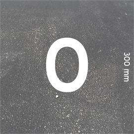 MeltMark letters - hoogte 300 mm wit - Brief: O  hoogte: 300 mm